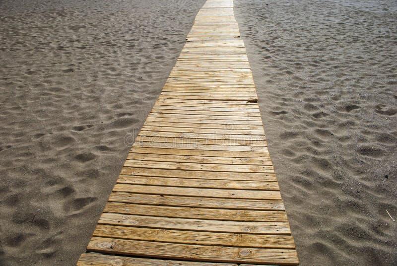Boardwalk na plaży obrazy royalty free