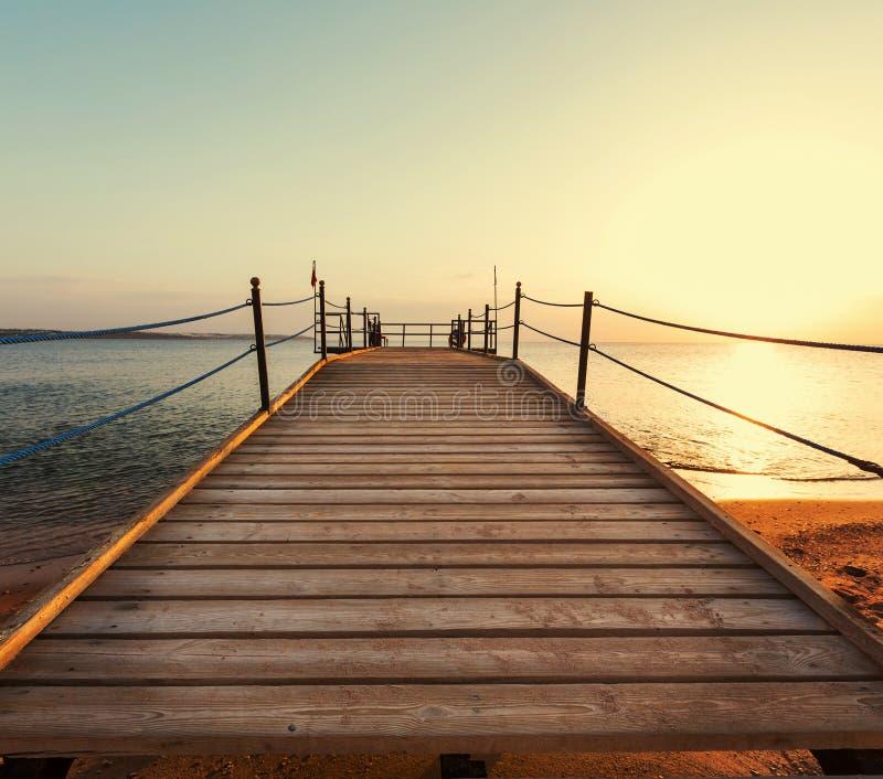 Boardwalk na plaży zdjęcie royalty free