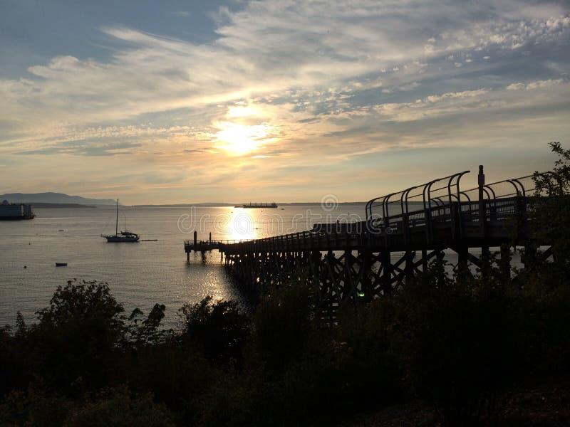 Boardwalk perspektywa zdjęcia royalty free