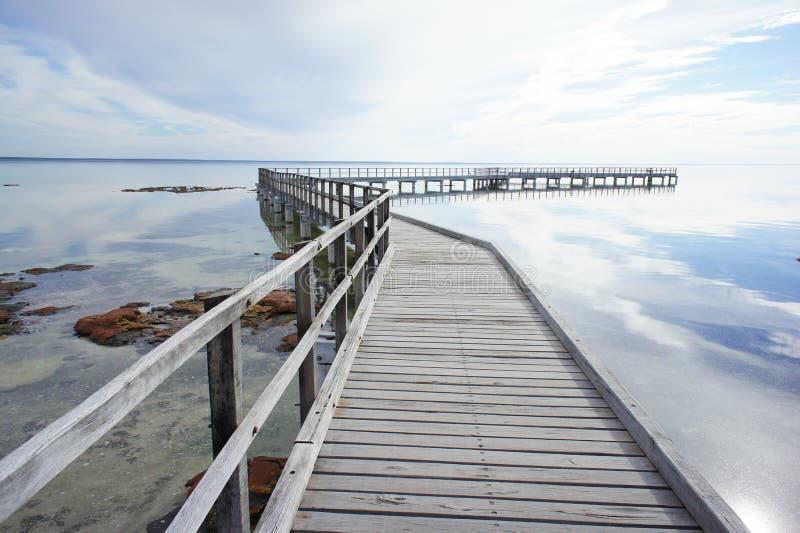 Boardwalk przy Hamelin basenem, rekin zatoka obrazy royalty free