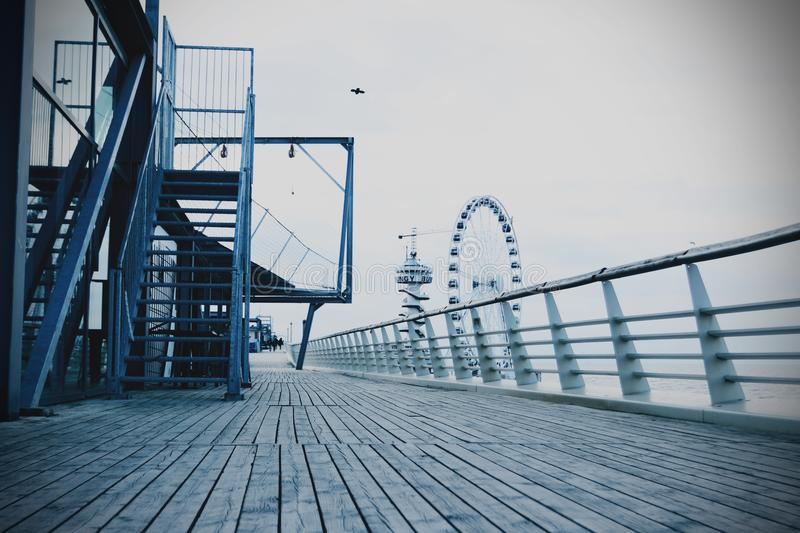 Boardwalk with staircase royalty free stock photos