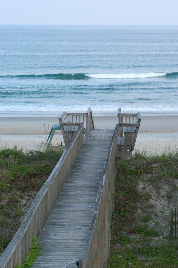 Boardwalk to the beach. stock photos