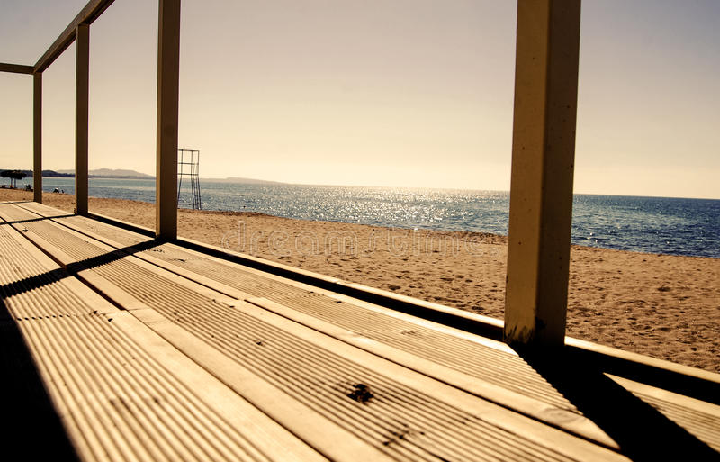 Boardwalk to the beach. Super image of a boardwalk to the beach royalty free stock images