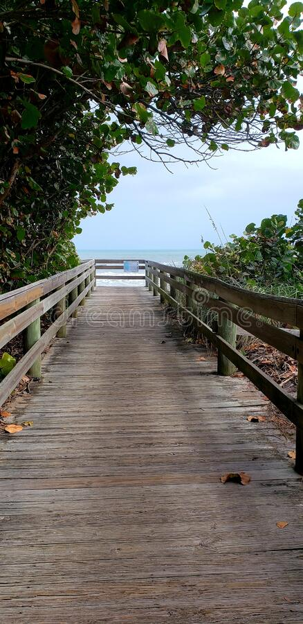 Boardwalk to Beach royalty free stock images