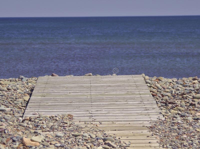 Boardwalk to blue sea 3574 royalty free stock image