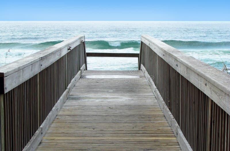 Download Boardwalk to ocean waves stock photo. Image of boardwalk - 19388658