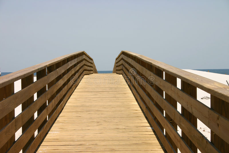 Boardwalk to the Sea. Boardwalk found in Gulf Shores, Alabama royalty free stock photos
