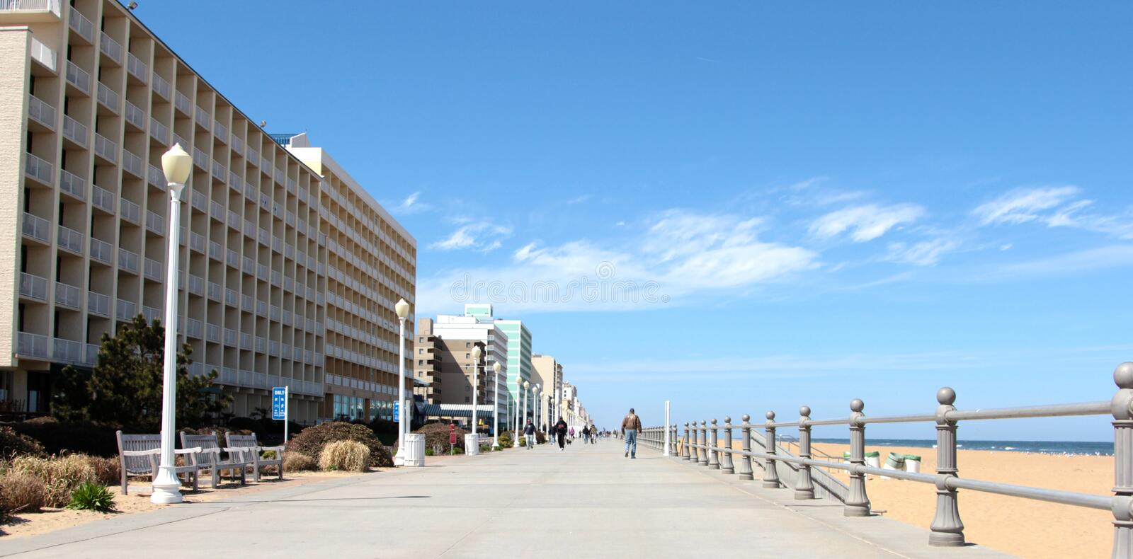 The Boardwalk Virginia Beach USA. The Famous Boardwalk Virginia Beach, Virginia United States royalty free stock images