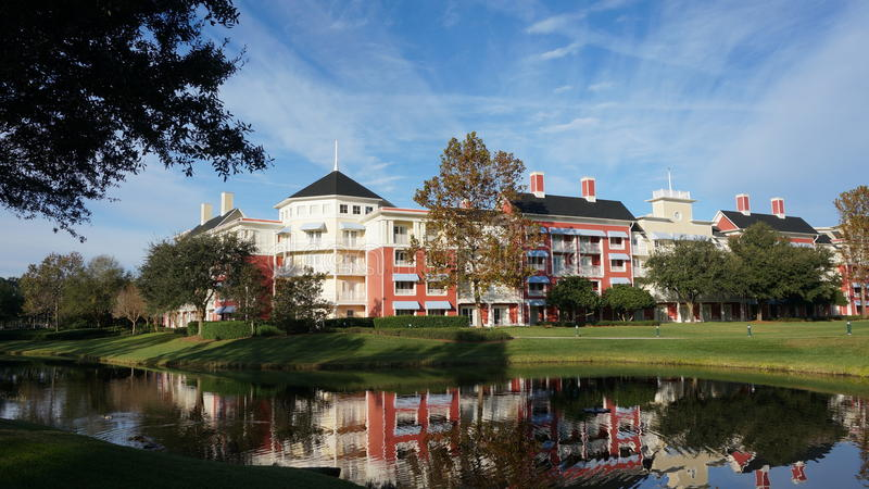 Boardwalkhotellet på den Walt Disney världen fotografering för bildbyråer