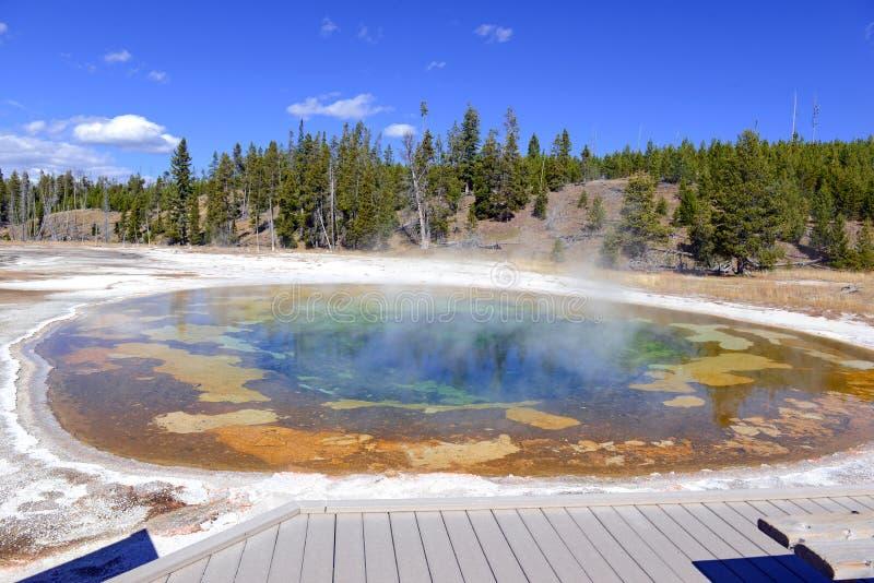 Boardwalks w Yellowstone parku narodowym, Wyoming obrazy stock