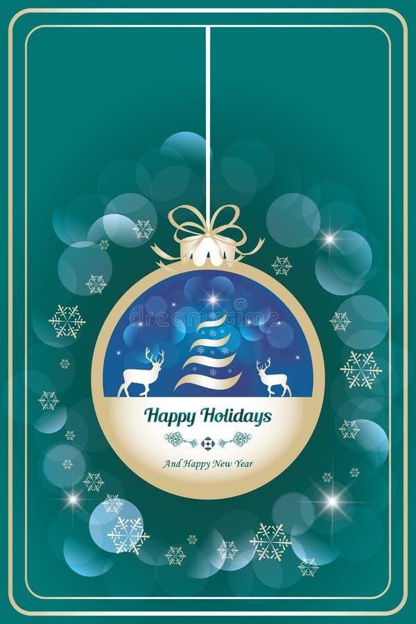 Boas festas cartão com caro ilustração do vetor