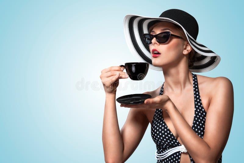 Boas maneiras do teatime. fotografia de stock