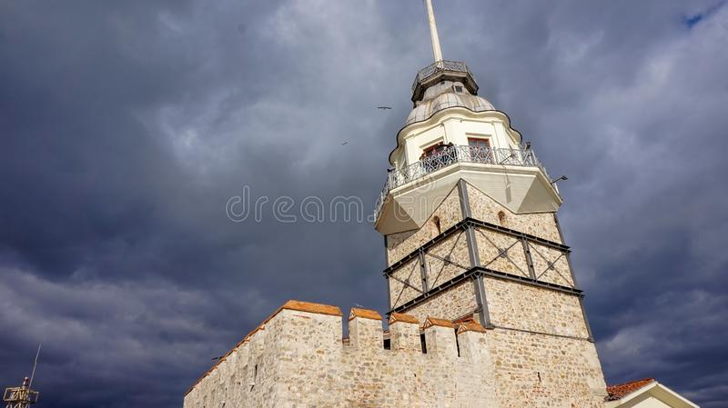 KIZKULESI Maiden`s Tower stock image