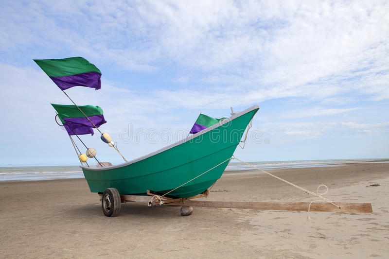 The Boat. Stop in the sand on small fishing vessels royalty free stock photo