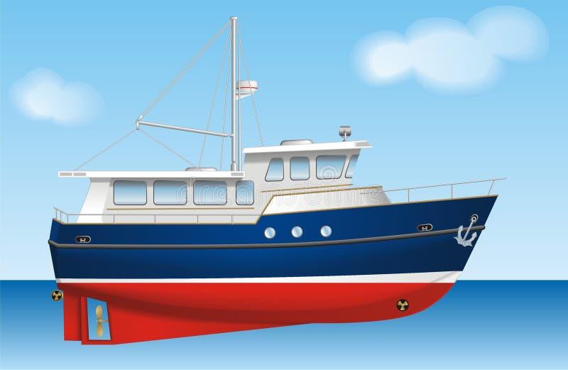 Download Boat stock vector. Illustration of sailing, horizontal - 18075586