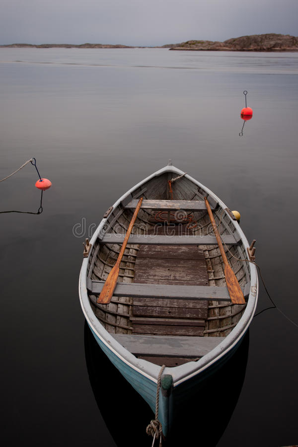 Boat. On the serene water stock image