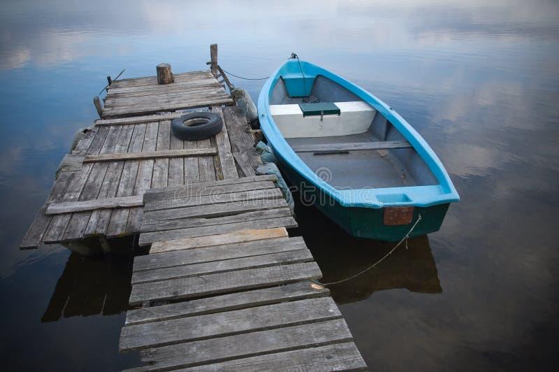 Boat. On the lake, Masuria, Poland stock photos