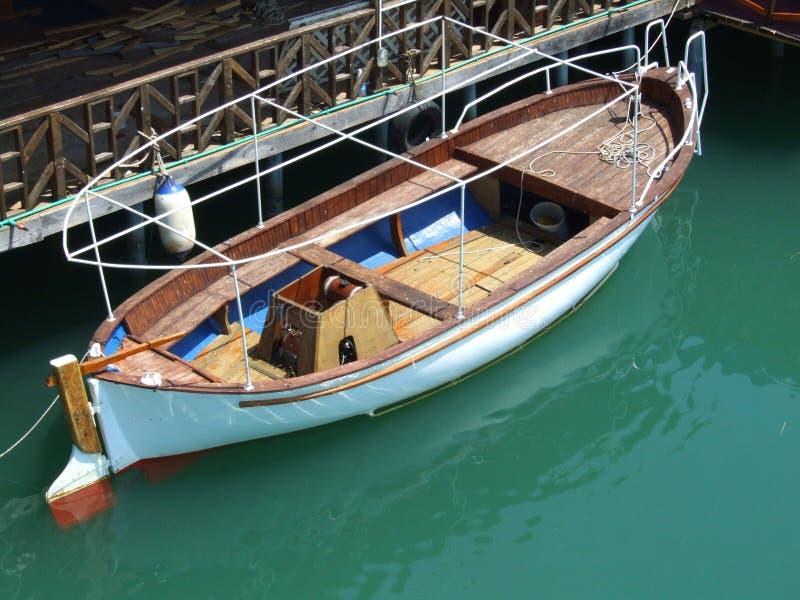 Boat. On the river Bojana in Montenegro stock photo