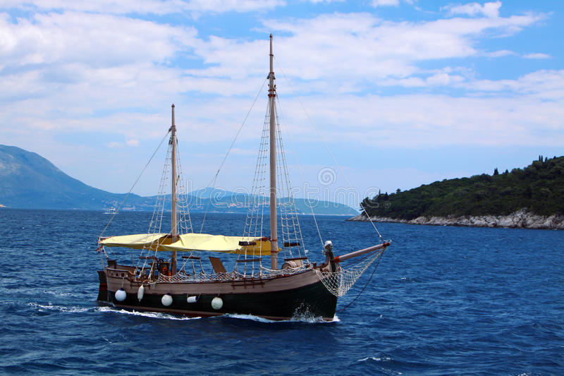 Download Boat in Adriatic sea stock image. Image of relax, tourism - 15182231