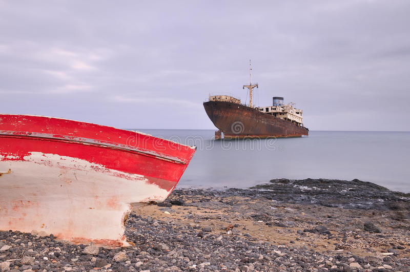 Download Boat aground. stock photo. Image of scrapping, abandoned - 20637818