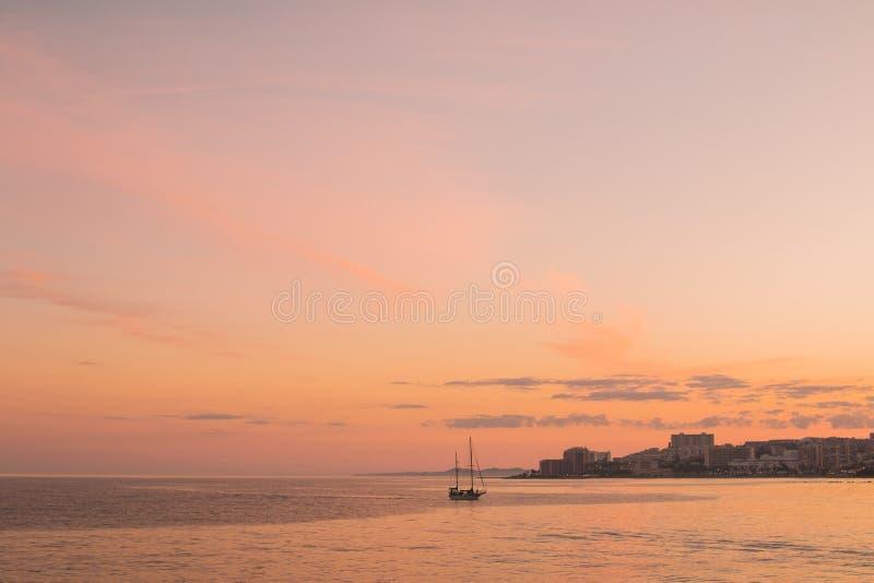 Boat Along Coastline At Sunset Free Public Domain Cc0 Image