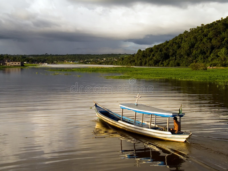 Download Boat In The Amazônia Royalty Free Stock Photography - Image: 3113867