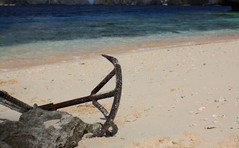 Download Boat Anchor stock photo. Image of coastline, horizont - 13010446