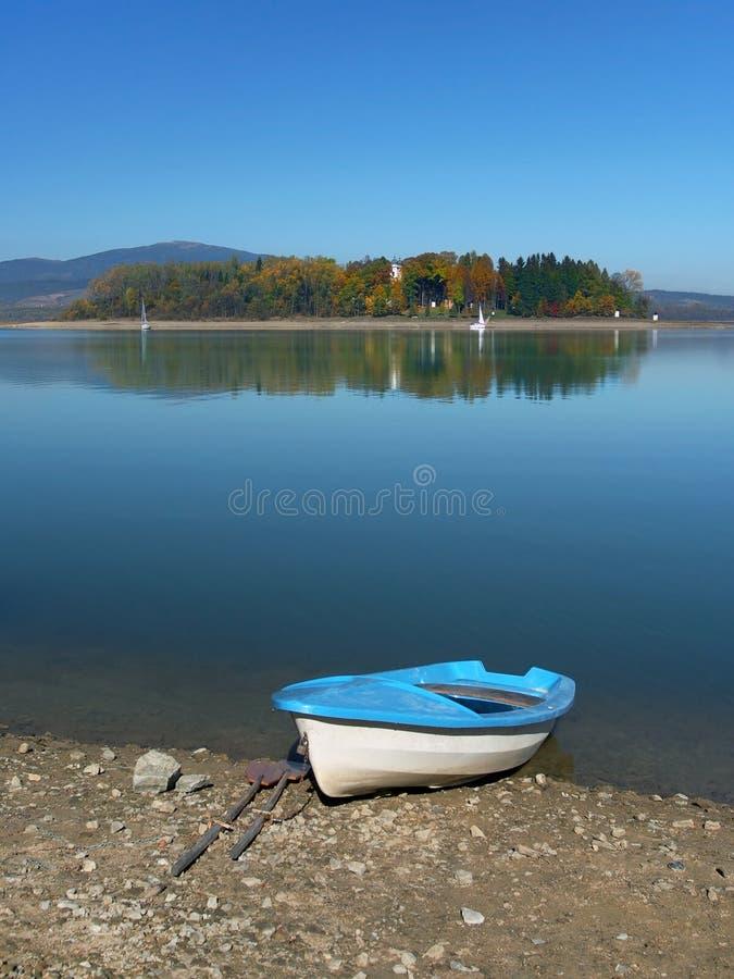 Free Boat And Slanica Island, Slovakia Stock Images - 33150974