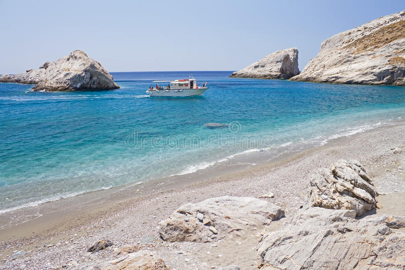 Download Boat Arriving at Beach stock photo. Image of mediterranean - 20288080