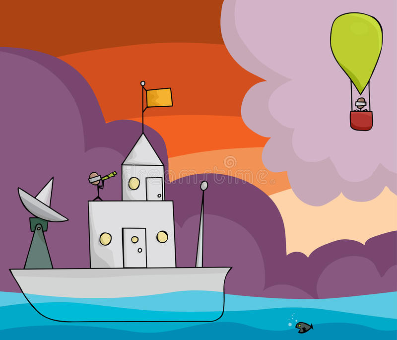 Download Boat And Balloon Stock Image - Image: 22606621