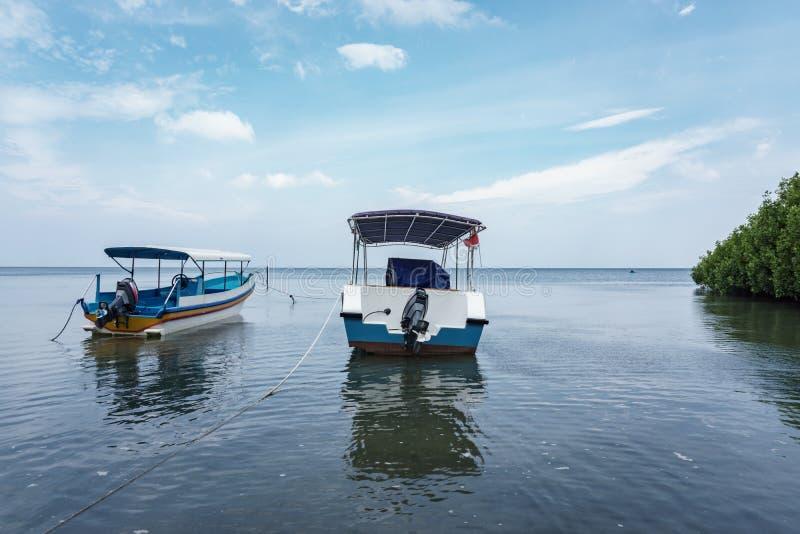 Boat on Bama Beach Banyuwangi Indonesia royalty free stock photography