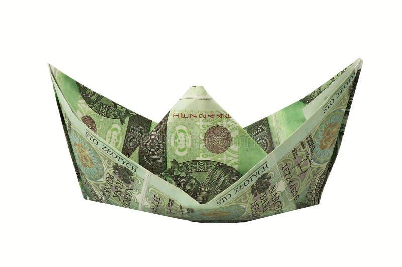 Boat Of Banknotes Royalty Free Stock Photo