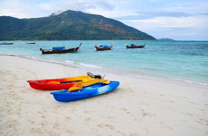 Download Boat on the beach stock photo. Image of water, beautiful - 25481286