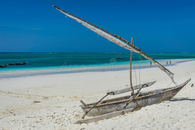 Boat on the beach royalty free stock photo