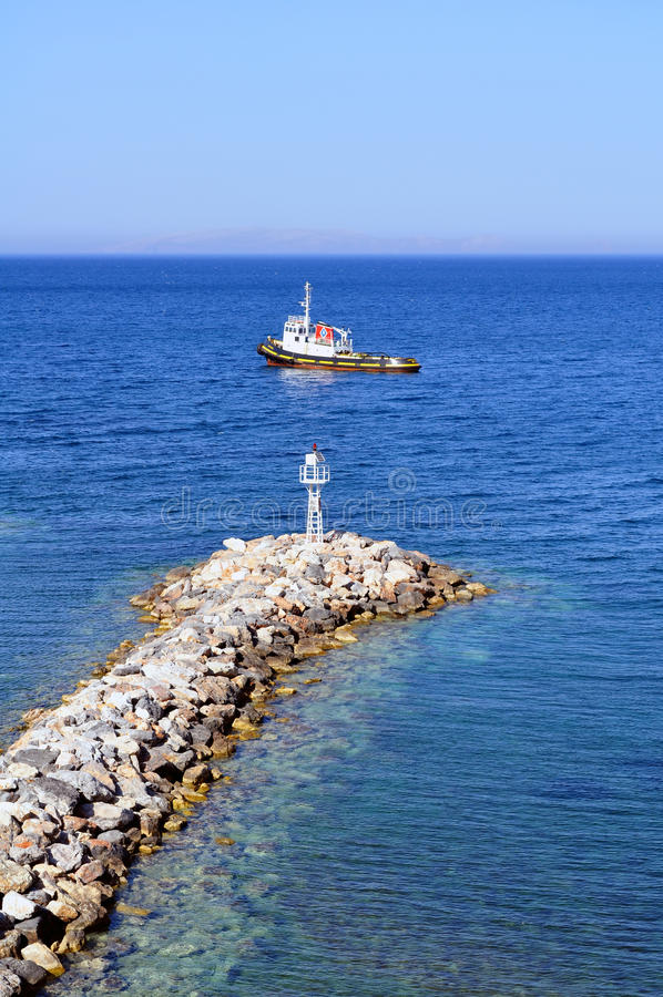 Download Boat and beacon stock photo. Image of light, mediterranean - 11038060