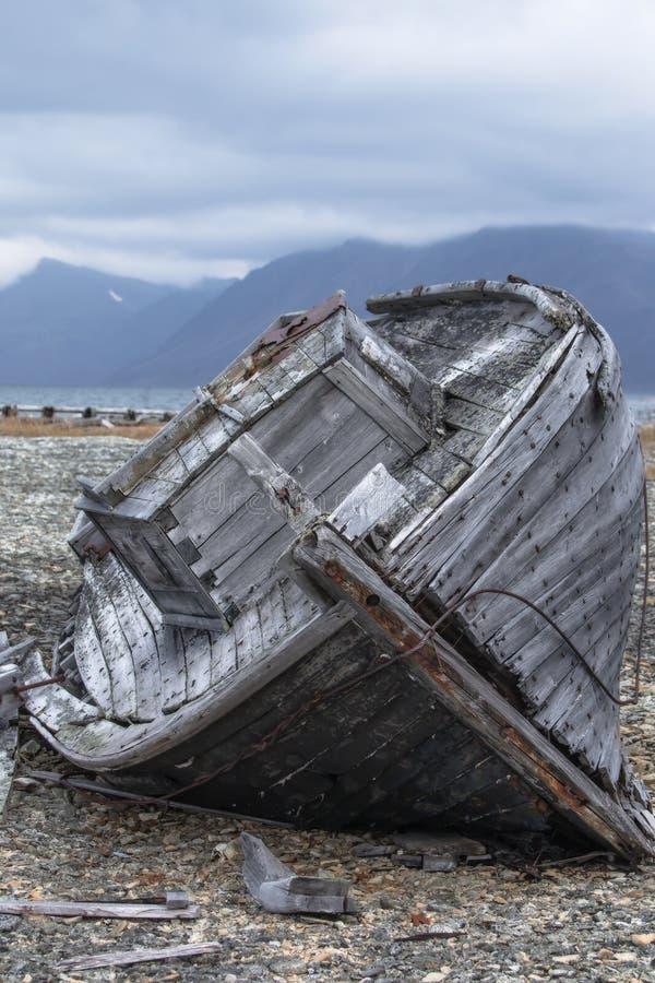 Boat breaks on the shore royalty free stock photos
