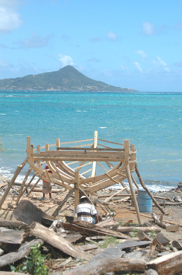 Download Boat Building On Carriacou, Grenada Royalty Free Stock Images - Image: 563809