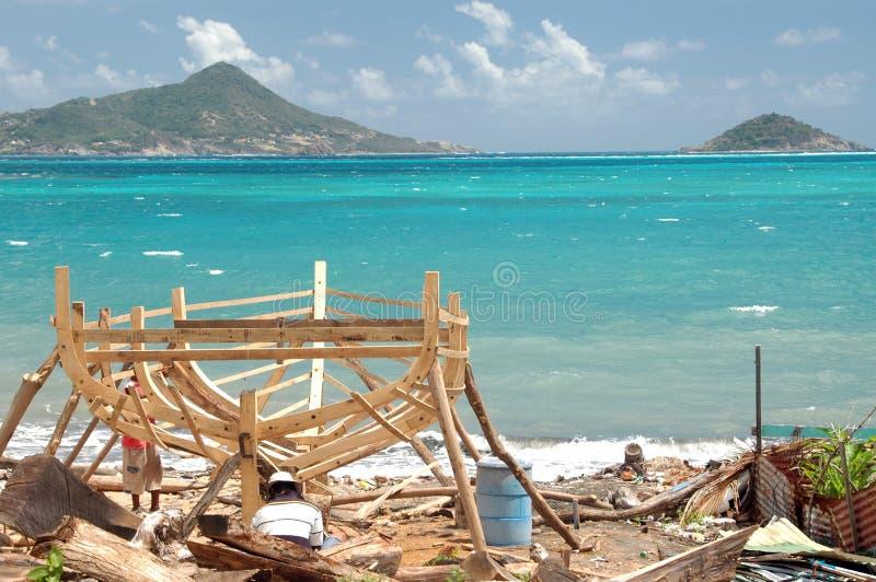 Boat building horizontal carriacou grenadine islan royalty free stock photos