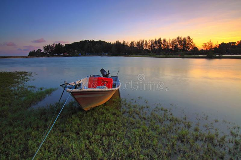 Boat, Calm, Waters royalty free stock photo