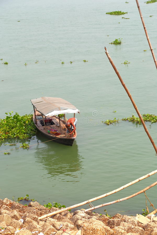 Boat at canal royalty free stock photography
