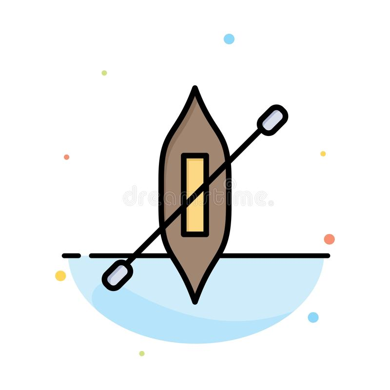 Boat, Canoe, Kayak, Ship Abstract Flat Color Icon Template royalty free illustration