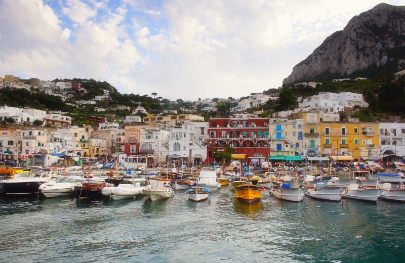 Boat on Capri island royalty free stock photo