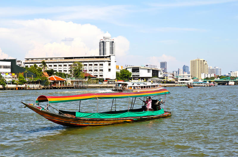 Download Boat on Chao Phraya river stock image. Image of landmark - 24518921