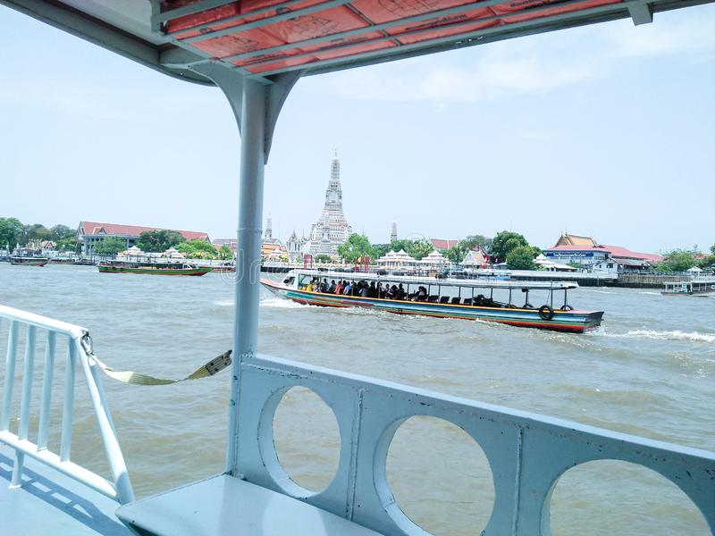 Boat in Chao Phraya River stock photo