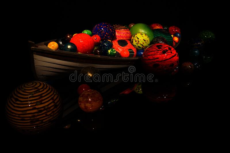 Boat1-Chihuly Gallery-Seattle 2016-2304 royalty free stock photos