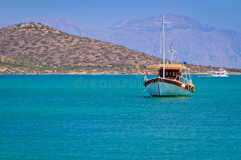 Download Boat At The Coast Of Crete Stock Photos - Image: 26803633