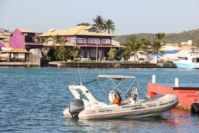 Boat of the Coast Guard stock photo