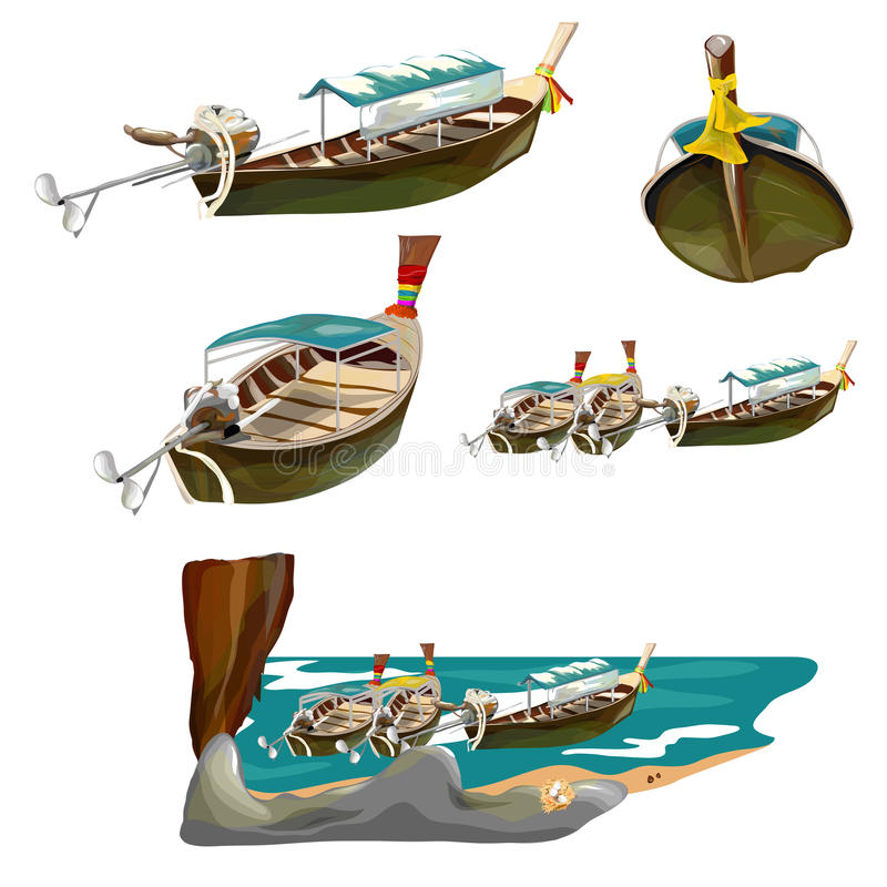 Free Boat Collection Thai Style Stock Photos - 31431943