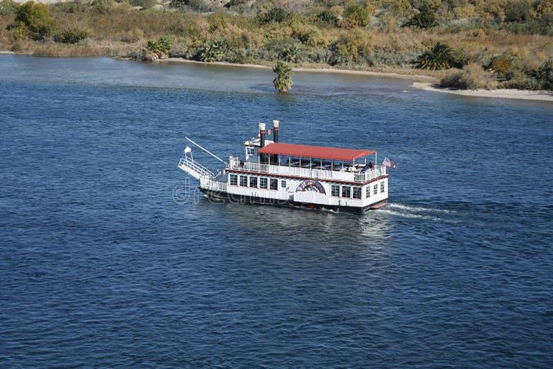 Boat in Colorado River stock photo