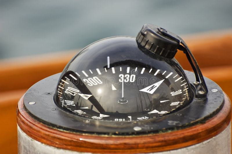 Boat compass royalty free stock photography